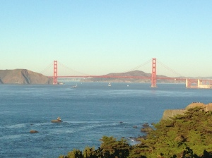 This is SF's famous Golden Gate Bridge. I am a fan.