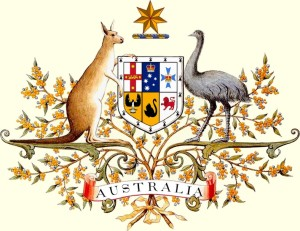 This is a drawing of the Australian Coat of Arms as it was accepted in 1912.