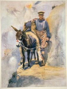 """An Aussie Mythos heroic figure from WW 1 - """"Simpson and His Donkey"""".  Not winning a battle - helping a mate."""